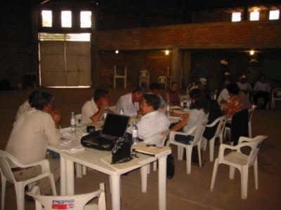 Reunión del ayuntamiento en Hacienda de Guadalupe